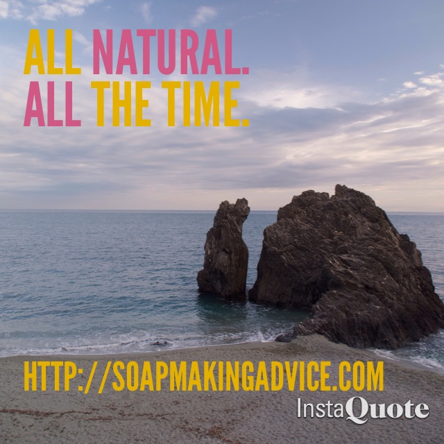 Soap making: All natural, all the time